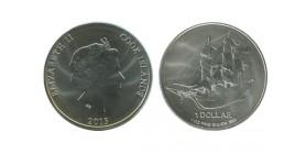 1 Dollar Elisabeth II Iles Cook Argent