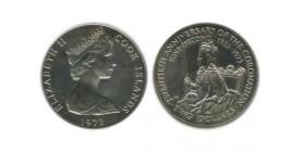 2 Dollars Elisabeth II Iles Cook Argent