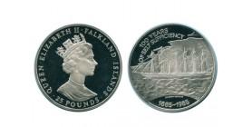 25 Livres Elisabeth II Iles Falkland Argent