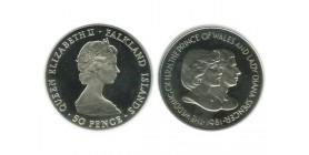 50 Pence Iles Falkland Argent