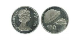 20 Dollars Elisabeth II Iles Fidji Argent