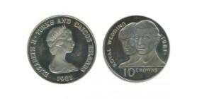 10 Couronnes Elisabeth II Iles Turks et Caà¯cos Argent