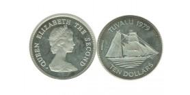 10 Dollars Elisabeth II Iles Tuvalu Argent