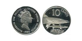 10 Cents Elisabeth II Iles Vierges Argent