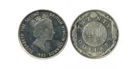 20 Dollars Elisabeth II Iles Vierges Argent