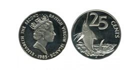 25 Cents Elisabeth II Iles Vierges Argent