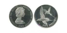 5 Dollars Elisabeth II Iles Vierges Argent