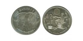12 Euros Juan Carlos Ier et Sophie Espagne Argent