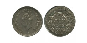1/2 Roupie Georges VI Indes Argent - Indes Anglaises