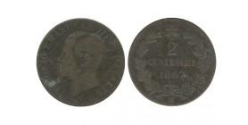 2 Centimes Victor Emmanuel II Italie - Italie Reunifiee