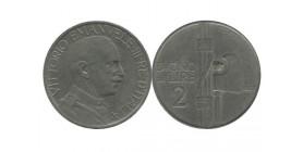 2 Lires Victor Emmanuel III Italie - Italie Reunifiee
