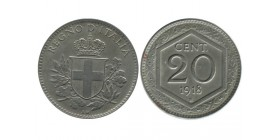20 Centimes Tranche Lisse Italie - Italie Reunifiee