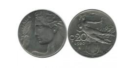 20 Centimes Tranche Striée Italie - Italie Reunifiee