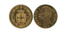 20 Lires Umberto Ier Italie - Italie Reunifiee