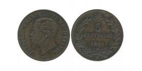 5 Centimes Victor Emmanuel II Italie - Italie Reunifiee