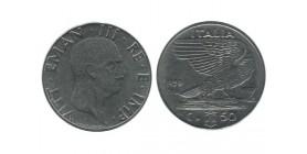 50 Centimes Victor Emmanuel III Italie - Italie Reunifiee