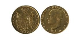 40 Lires Napoléon Imperator Tranche En Creux Italie - Occupation Francaise