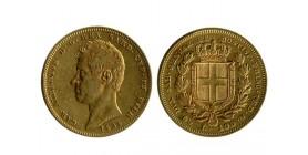 100 Lires Charles Albert Italie - Sardaigne