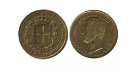 20 Lires Charles Albert Italie - Sardaigne