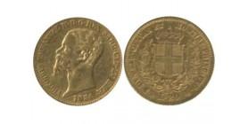 20 Lires Victor Emmanuel II Italie - Sardaigne