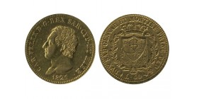 40 Lires Charles Félix Italie - Sardaigne