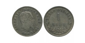 1 Lire Victor Emmanuel II Italie Argent - Italie Reunifiee