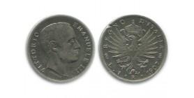 1 Lire Victor Emmanuel III Italie Argent - Italie Reunifiee