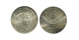 1000 Lires Italie Argent - Italie Reunifiee