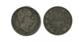 2 Lires Umberto Ier Italie Argent - Italie Reunifiee