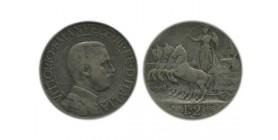 2 Lires Victor Emmanuel III Italie Argent - Italie Reunifiee