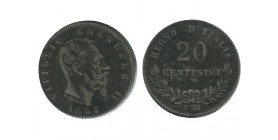 20 Centimes Victor Emmanuel II Italie Argent - Italie Reunifiee