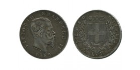 5 Lires Victor Emmanuel II Italie Argent - Italie Reunifiee