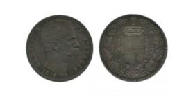5 Lires Umberto Ier Italie Argent - Italie Reunifiee