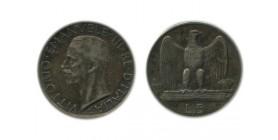 5 Lires Victor Emmanuel III 2ème type Italie Argent - Italie Reunifiee