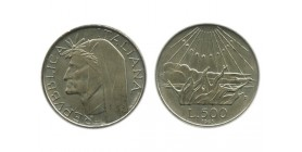 500 Lires Dante Italie Argent - Italie Reunifiee