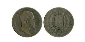 1 Lire Victor Emmanuel II Italie Argent - Italie Sardaigne
