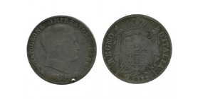 2 Lires Napoleon Imperator Italie Argent - Occupation Francaise