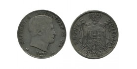 2 Lires Napoleon Imperator Italie Argent - Occupation Francaise