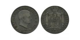 5 Lires Napoleon Imperator Italie Argent - Occupation Francaise