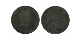 5 Lires Napoleon Imperator Italie Argent - Occupation Francaise