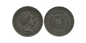 5 Lires Charles Felix Italie Argent - Sardaigne
