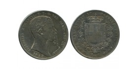 5 Lires Victor Emmanuel II Italie Argent - Sardaigne
