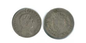50 Centimes Charles Felix Italie Argent - Sardaigne
