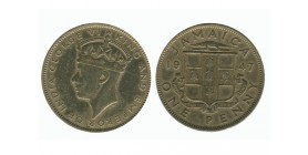 1 Penny Georges VI Jamaïque