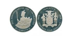 25 Dollars Jamaïque Argent