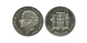 5 Dollars Jamaïque Argent