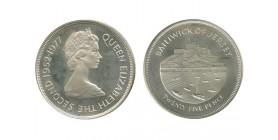 25 Pence Elisabeth II Jersey Argent