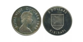 5 Dollars Kiribati Argent
