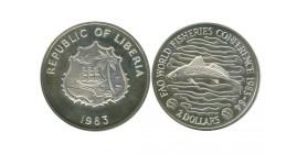 2 Dollars Libéria Argent