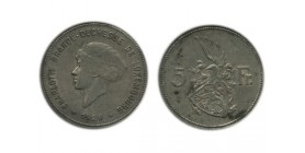 5 Francs Charlotte Luxembourg Argent